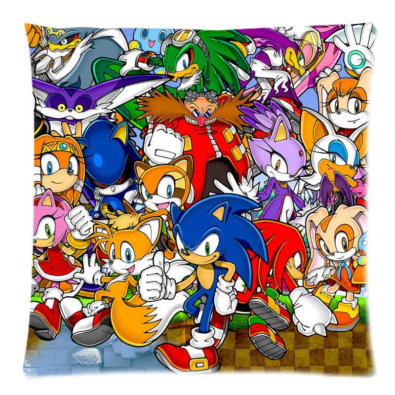 Sonic The Hedgehog Two Side Printed Peach Skin Fabric Cushion Cover Christmas Home Car Sofa Bed Cushion Decorative 18 X18 Cushion Cover Printed Cushion Covercover Cushion Aliexpress