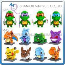 Мини Qute WTOYW kawaii Аниме мультфильм Пикачу LOZ алмаз блок пластиковый куб строительные блоки кирпичи развивающие игрушки игры