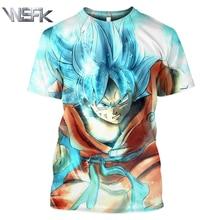 WSFK Anime Dragon Ball Z Goku Men and Women 3D Print Short Sleeve T-Shirt Cool Casual Hip-Hop Sweatshirt