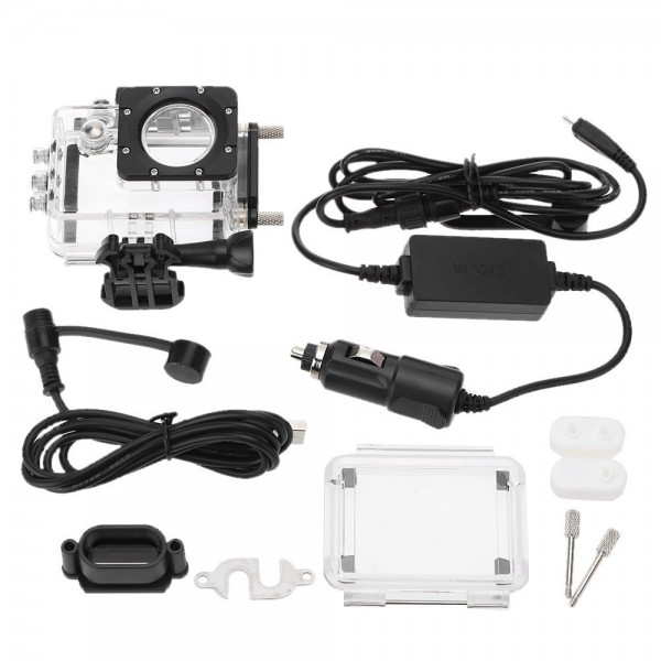 SJCAM Accessories SJ5000 SJ5000WiFi SJ5000 Plus Waterproof Case with Car Charger for Motorcycle