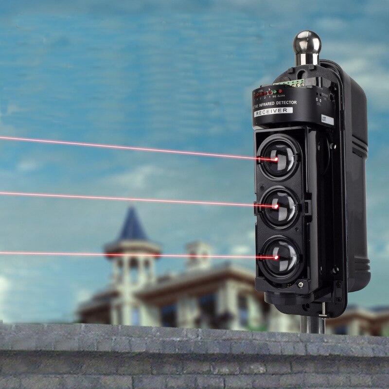 Alarme de sécurité étanche 3 faisceau détecteur fil infrarouge alarme capteur détecteur Protection de cour pour système d'alarme à la maison - 2