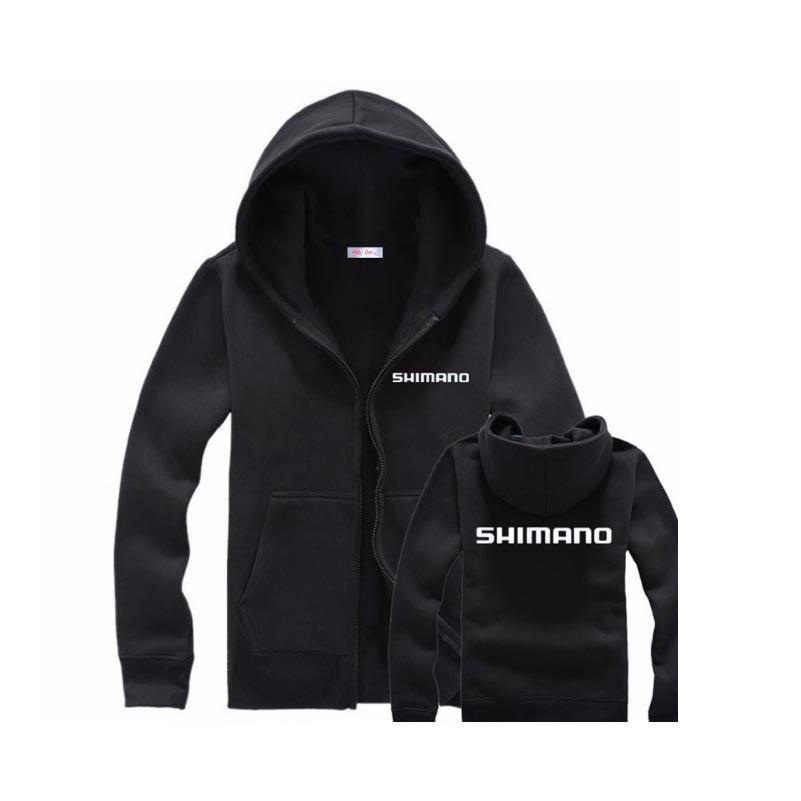 Winter Men Fishing Clothes Fishing Sweatshirt Zipper Sweater shirt Jacket Outdoor Sports Clothing Male Velvet Fleece SHIMANO