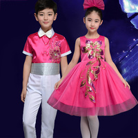 Jazz Dance Costumes Children Dancing Costume Boys Girls Show Wear Performance Clothing Suit Kids Stage Practice Dresses DNV11524
