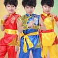 Crianças de Tae Kwon do Crianças Menino Roupas Kungfu Chinês Tradicional China Kungfu Wushu Terno Uniformes de Kung Fu Para Meninos Trajes