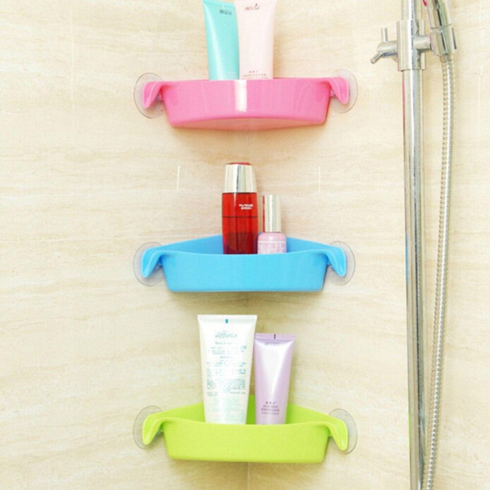 High Quality New Sucker Corner Decorative Shelves Bathroom Kitchen ABS+plastic  Storage Orgnazation Rack Bathroom Shelf 4 Colors In Bathroom Shelves From  ...