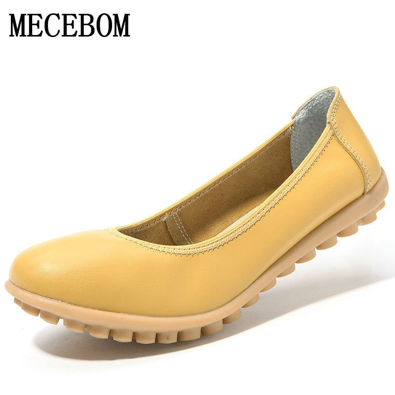 2018 Shoes Woman Leather Women Shoes Flats Colors footwear Loafers Slip On Women's Flat Shoes Moccasins Plus Size ballet 621W 2017 new leather women flats moccasins loafers wild driving women casual shoes leisure concise flat in 7 colors footwear 918w