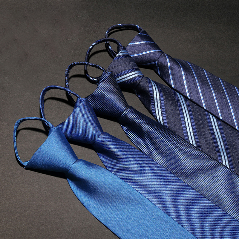 Vomint 2019 New Mens Neck Tie Pull Rope Tie Stripe Business Easy To Pull Zipper Tie Fashion Male Accessory Lazy Tie 7cm*48cm|tie stripes|zipper tiesmens neck tie - AliExpress