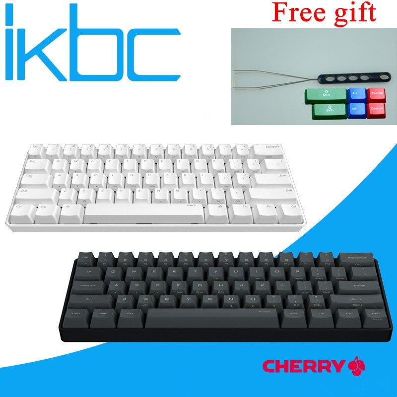 IKBC POKER MINI 60% black mechanical keyboard compact cherry mx brown switch gaming keyboard PBT keycap detachable cable vortex