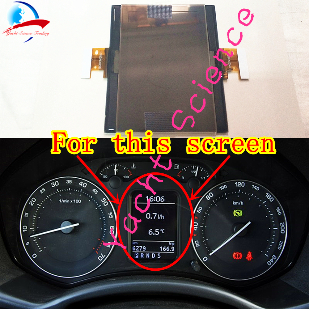 hight resolution of full size dashboard instrument cluster vdo lcd display ribbon cable pixel repair for vw touran passat golf 5 skoda octavia in car monitors from