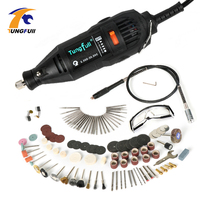Free Shipping 220V Dremel Variable Speed Rotary Tool Mini Drill With Safety Glasses And 137pcs Accessories