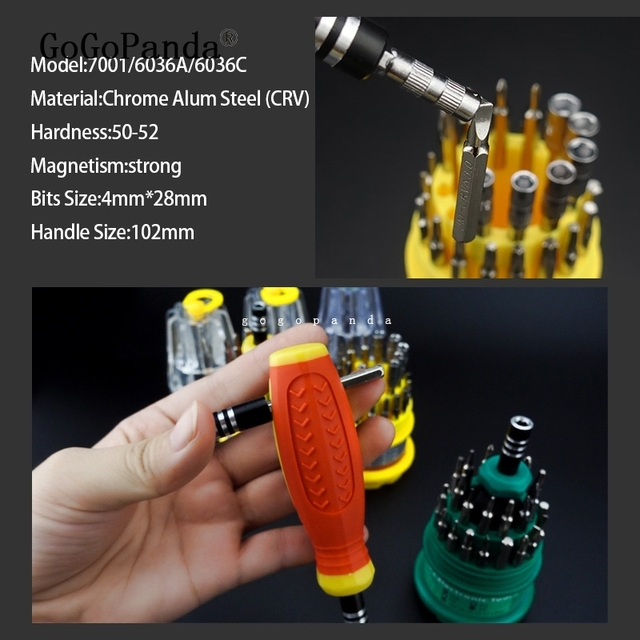 Precision Handle Screwdriver Repair Set (31 in 1)