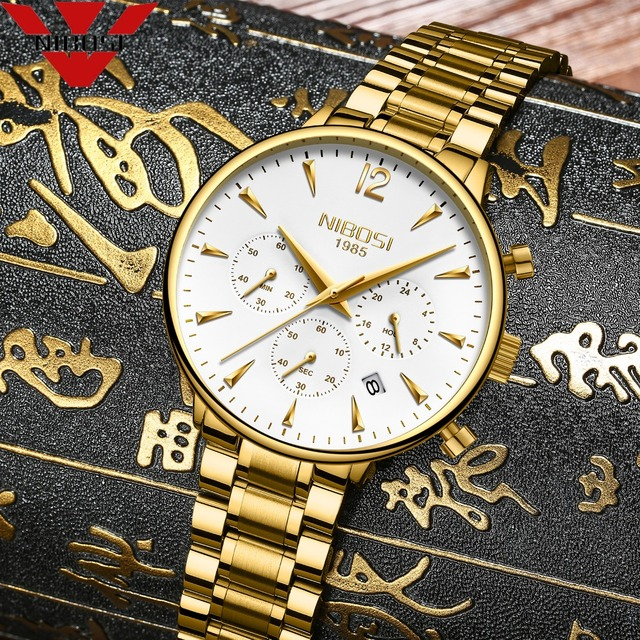 Nibosi 패션 남성 시계 럭셔리 비즈니스 쿼츠 시계 relogio masculino 남성 시계 스포츠 방수 손목 시계 herrenuhren
