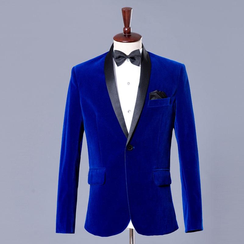 auténtica venta caliente calidad online aquí € 59.16 25% de DESCUENTO Terciopelo Azul chaqueta hombres chaqueta de traje  de terciopelo para hombre Chaquetas Chaqueta de los hombres de diseños ...