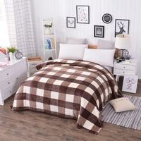 03 Single For Child Plaid Plaids Fleece American Flag Baby H Blanket On The Bed Microfiber