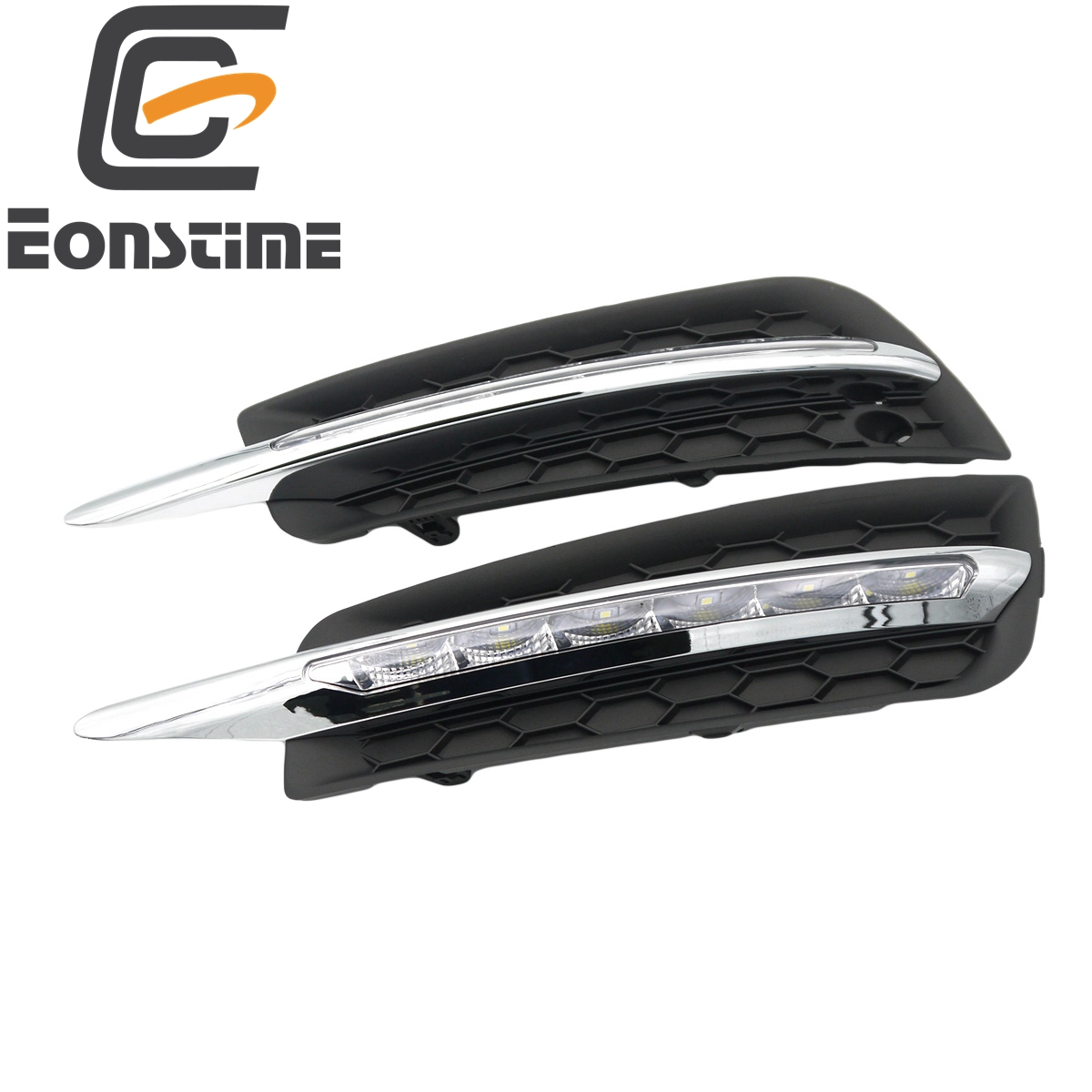 Eonstime 1 set car 6LED DRL Driving Daytime <font><b>Running</b></font> <font><b>Light</b></font> lamp Relay 12V Daylight for <font><b>chevrolet</b></font> <font><b>cruze</b></font> 2009 2010 <font><b>2011</b></font> 2012 2013 image