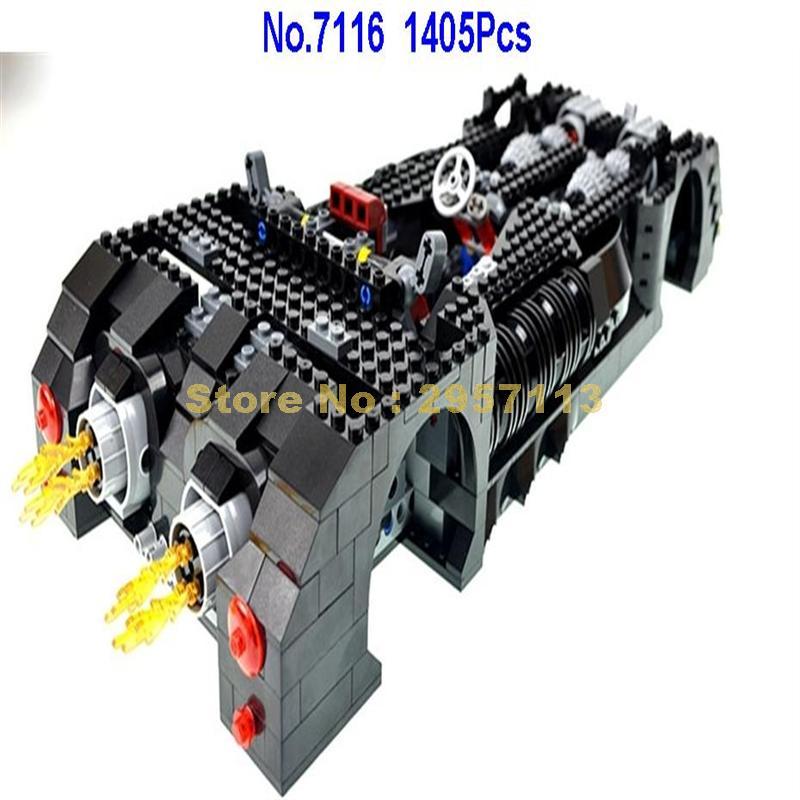 7116 1045pcs Super Hero Batman Ultimate Batmobile Building Blocks
