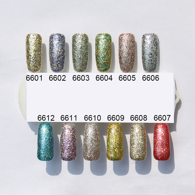 Elite99 1pc Sommer Sammlung Neon Sternen Roten Gel Nagellack UV LED Gel Lack Nägel Kunst Lack Emaille 10ml Glitter Platin