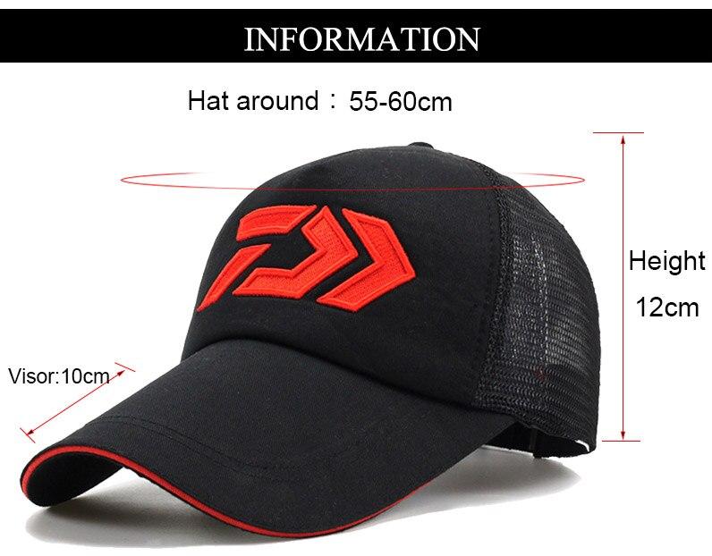 Daiwa Fishing Hats Unisex Adults Adjustable Size