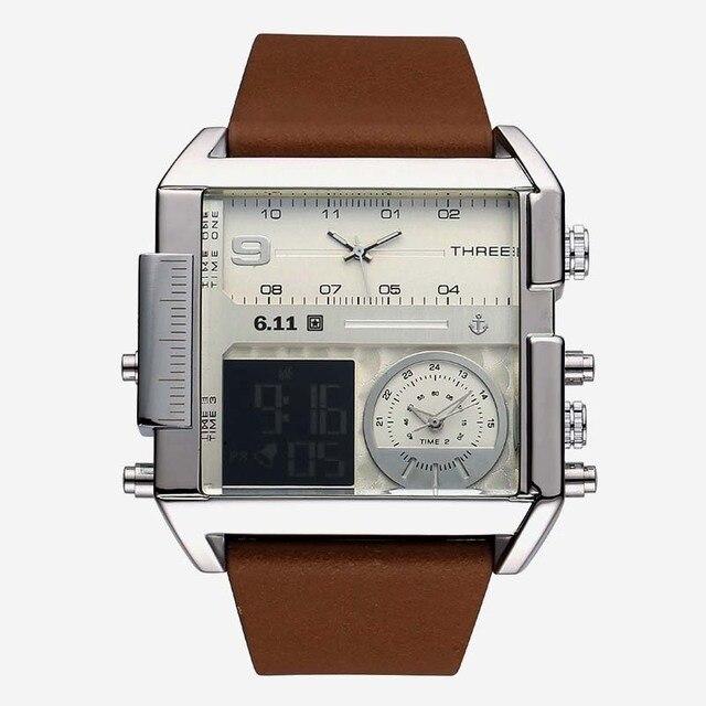 Luxury Brand 6.11 Men Military Waterproof LED Sport Watches Men's Clock Male Wrist Watch relogio masculino