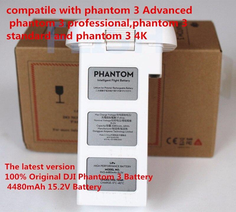 2016 Newest 100 Original DJI Phantom 3 Battery 4480mAh 15 2V Battery For Phantom 3 Advanced