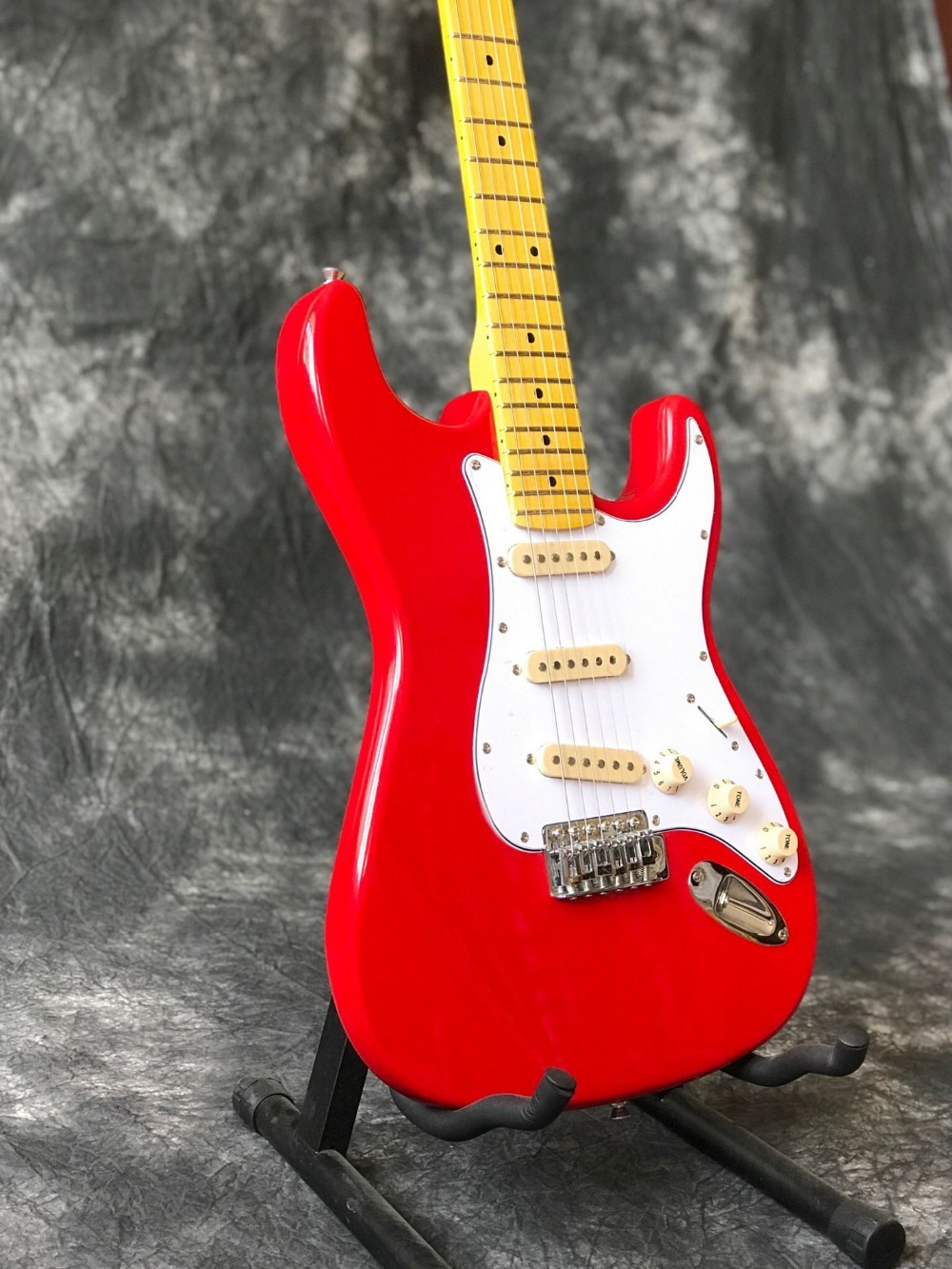 buy custom shop st red electric guitar handwork 6 strings maple fingerboard. Black Bedroom Furniture Sets. Home Design Ideas