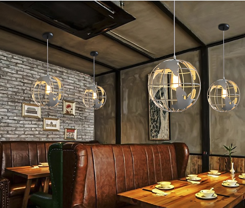 Earth lamps pendant lights iron circular living room lamp study earth lamps pendant lights iron circular living room lamp study childrens restaurant bar dining room led hanging light fixture in pendant lights from mozeypictures Images