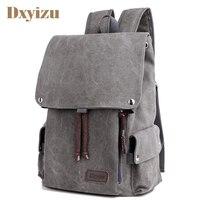Man's Canvas Backpack String Travel Schoolbag Male Backpack Men Large Capacity Rucksack Shoulder School Bag Mochila Escolar
