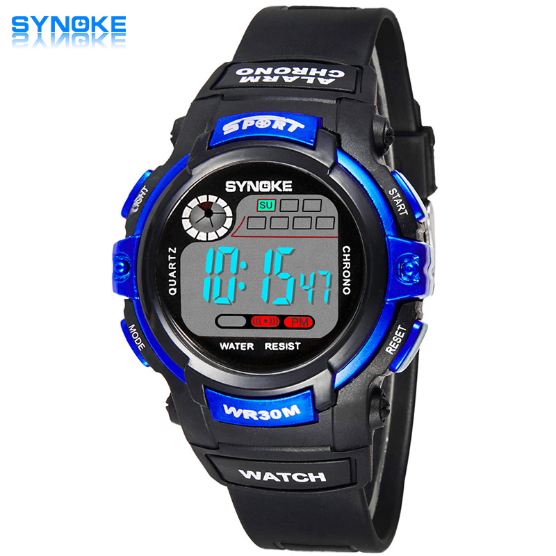Mode Anak Elektronik Wrist Watch LED Olahraga Jam Tangan Anak Digital Jam Tangan Anak Shockproof Waterproof Karet Band Alarm