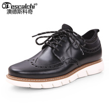 Odescalchi Bullock men's leather shoes leather soled England new winter fashion leather sports shoes breathable strap