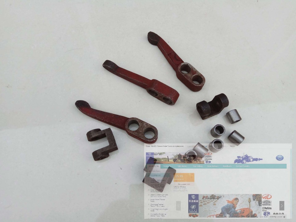 JINMA tractor 254,  the set of release lever, connecting fork, bushing, part number: