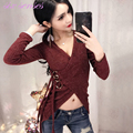 Fashion women sweater korea spring and autumn sexy v-neck novelty ladies pullovers knitted long sleeve basic sweater,HH0069