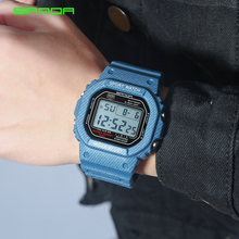 2018 New Denim SANDA Sport Digital Watch G Style LED Mens Watches Waterproof Shock Resist Clock relogio masculino esportivo
