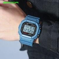 2018 New Denim SANDA Sport Digital Watch G Style LED Men's Watches Waterproof Shock Resist Clock relogio masculino esportivo