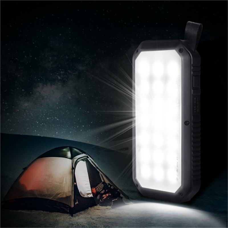 Smuxi 21 LED 8000mAh Portable Solar Powered Camping Light 3 USB Mobile Power Bank for iPhone/ipad/Android portable 5600mah mobile power source bank w 1 led flashlight for iphone htc samsung white page 3