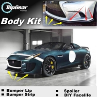 Bumper Lip Deflector Lips For Jaguar F Type F Type Front Spoiler Skirt For TopGear Friends to Car View Tuning / Body Kit / Strip