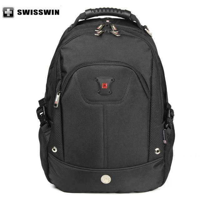 Swisswin Laptop Backpack Men Swissgear Waterproof Black Male Bagpack Student School Bag Sac a dos nylon  Wenger Travel Bag