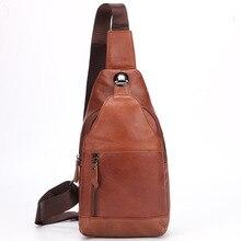 Men's Sling Chest Bag Genuine Leather Casual Messenger Back Pack Waist Belt Pack Male Shoulder Crossbody Bag Men Mochila Fashion цена в Москве и Питере