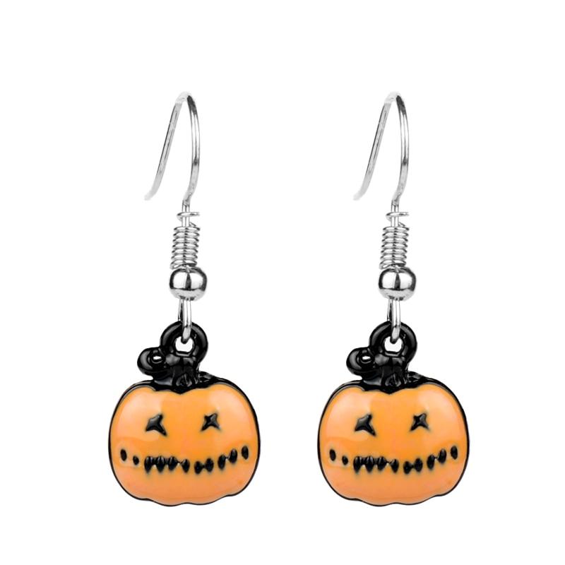 Dongsheng Cute Cartoon Happy Pumpkin Drop Earrings Unique