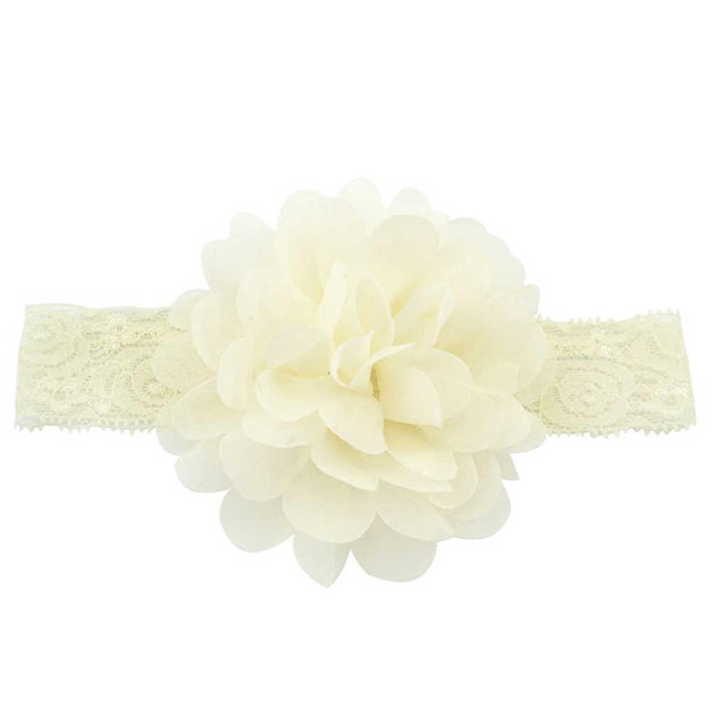 Для девочек 2018 Лидер продаж шифоновые платья; Детская повязка на голову для маленьких девочек с цветочным принтом повязка на голову, Шелковый бант повязка с цветком повязки для волос аксессуары