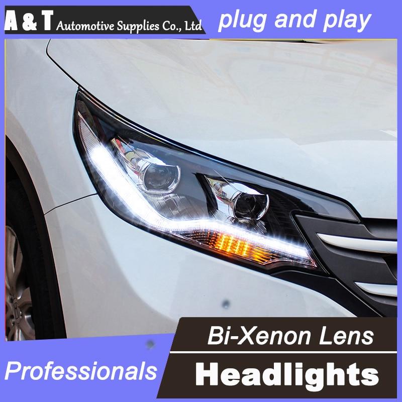 car styling For Honda CRV headlights U angel eyes DRL 2012 For Honda CRV LED light bar DRL  bi xenon lens h7 xenon car styling for honda crv headlights u angel eyes drl 2012 for honda crv led light bar drl bi xenon lens h7 xenon