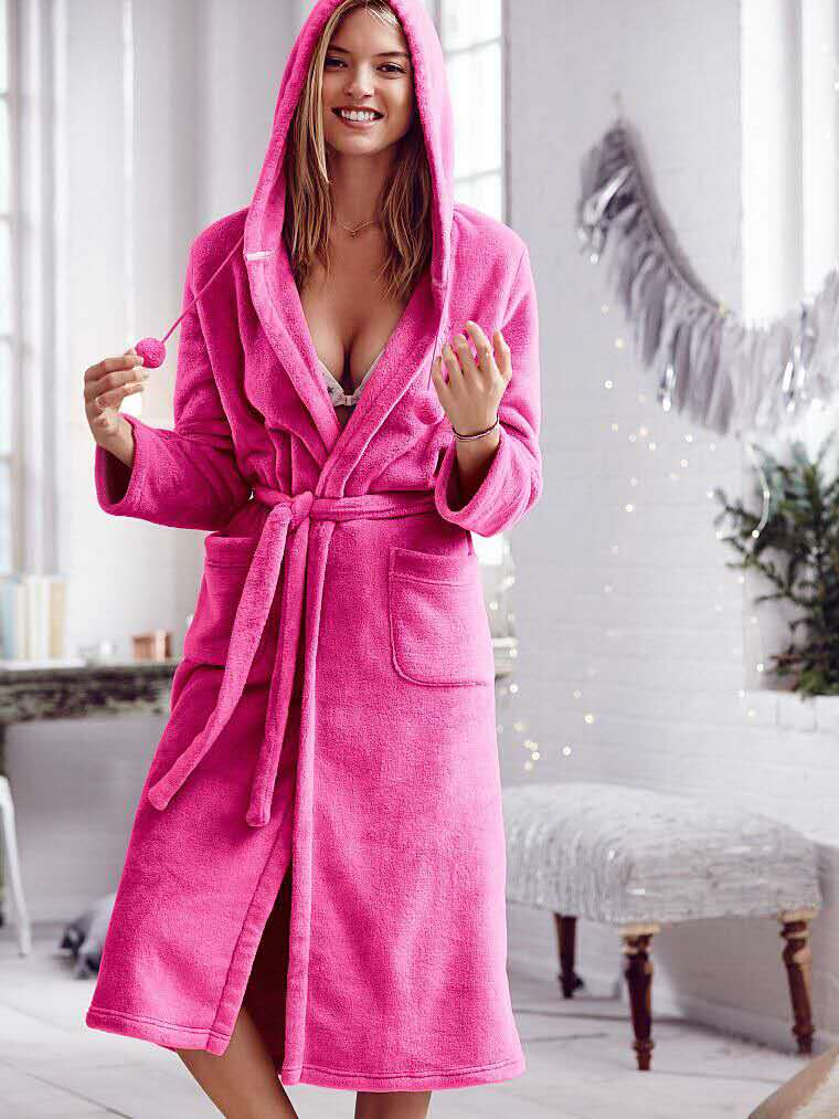 1a436a2b3a17 Well know brand women sexy plush coral fleece hooded long robe winter  flannel robe ladies bathrobe sleepwear Lounge-in Robes from Women's  Clothing ...