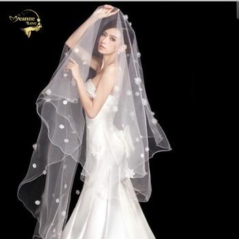 300cm Long !  Wholesale Pearl Flower Free Shipping Hot Sale Bridal Veil Wedding Veils BRIDAL ACCESORIES VEIL OV9992