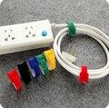 1 UNIDS Cable Winder Holder Organizador Del Cable Colorido Reutilizable Cable de Cinta Mágica Cierres de Lazo de Alambre del Sujetador Inicio Uso de La Oficina