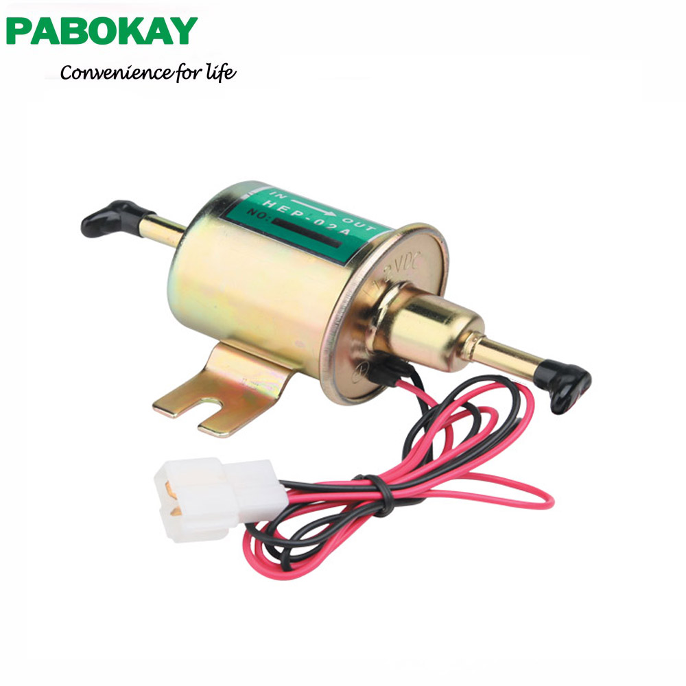 Universal Diesel Petrol Gasoline 12V Electric Fuel Pump HEP 02A Low Pressure For Most Car Carburetor