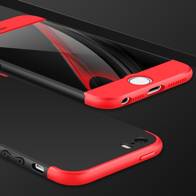 GKK Double Dip Phone Back Cover Case for iphone 5 5s SE Case iphone5 iphone5s Cover Cases Hard HyBrid PC 360 Full Protection