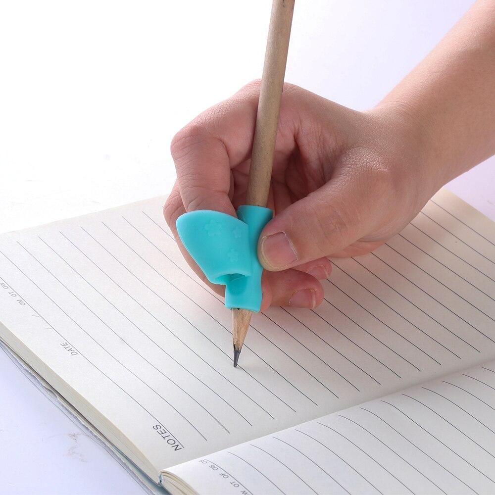 3pcs//Set Pencil Holder Posture Corrector Kids Pen Writing Aid Grip Tools Durable