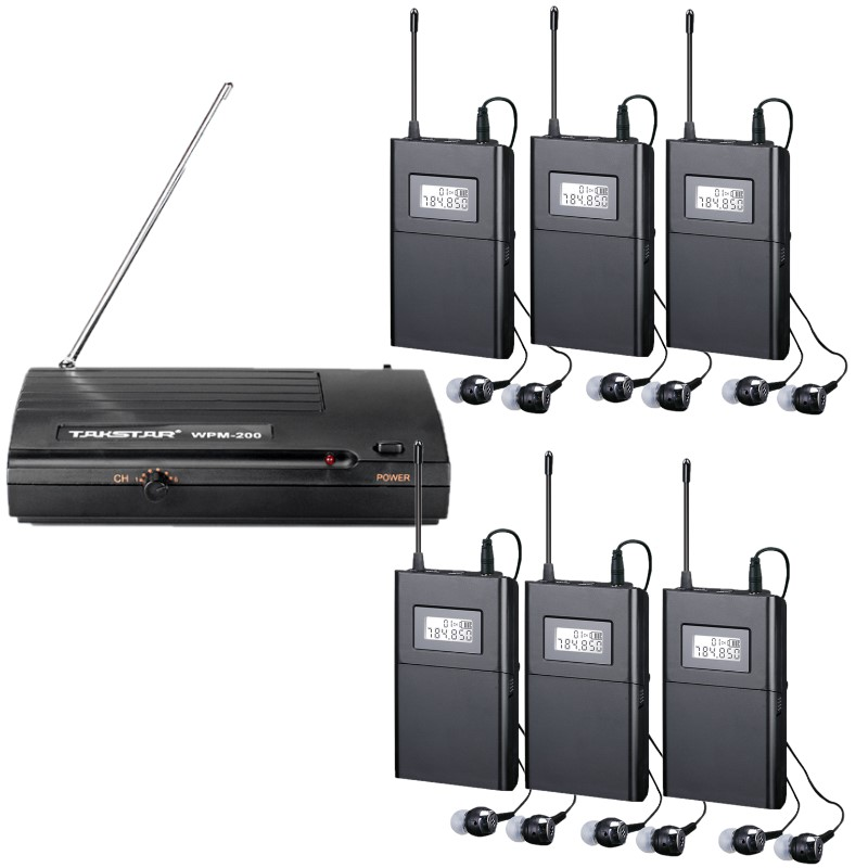 Takstar WPM 200 UHF Frequency Band Wireless Monitoring System for recording studio and on stage 1