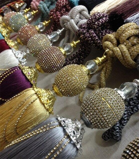 promocin promociones decoracin del hogar accesorios para cortinas baln colgado correas espaguetis piedras adornos