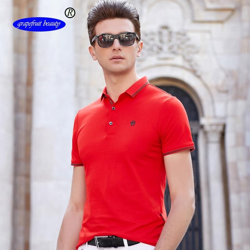 Grapefruit beauty New 2019 Mens brand men Polo shirt cotton short-sleeved polosweatshirt T-ennis Free shipping M-3XL