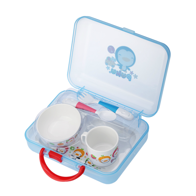 2016 New Design Portable Children Lunch Box Dinner Tableware Bowl Plate Safe Feeding Bowl Cup Spoon Fork Dishes Eating Plate посуда constructive eating garden fairy plate тарелка серия волшебный сад